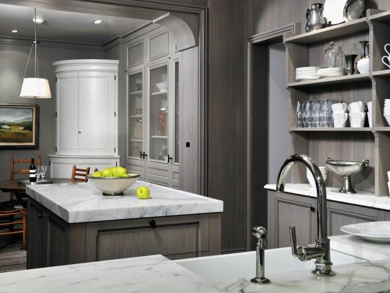 cocinas con peninsula opciones espacios estrechos ideas