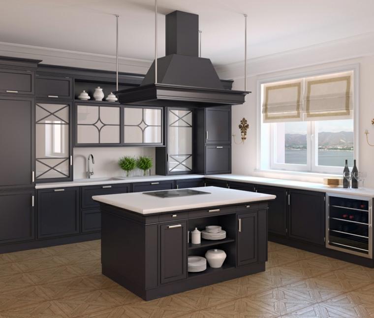cocinas con peninsulas muebles estilo clasico ideas