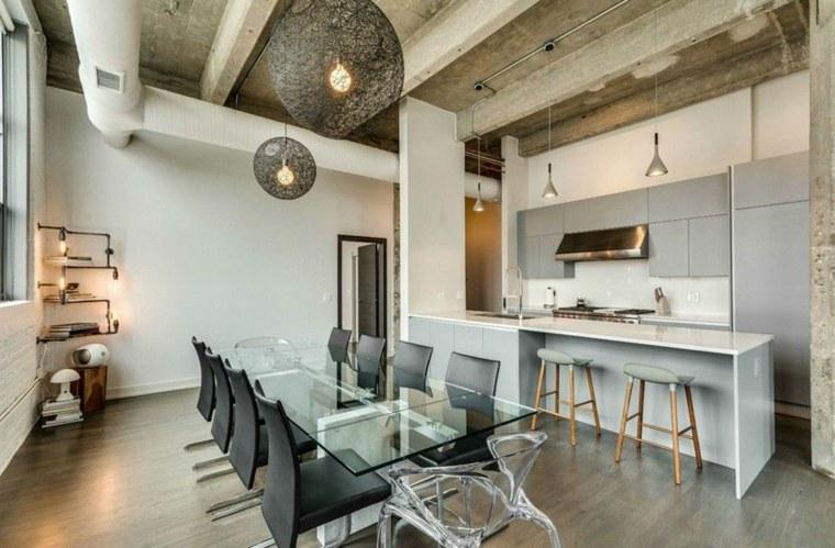 cocinas de diseño ideas elegante neutrales colores lamparas