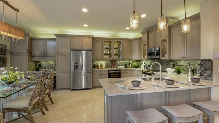 cocinas de diseño ideas marmol carrara encimeras mesas