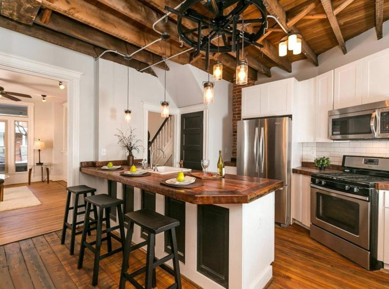 cocinas de diseño ideas rustica encanto muebles