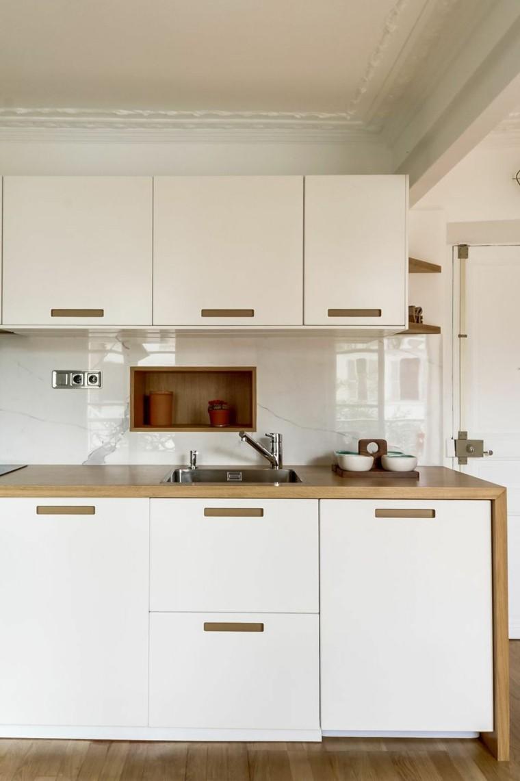 gabinetes blancos madera