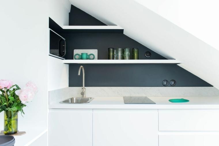 Cocinas de diseño lineal - ahorrar espacio con mucho estilo -