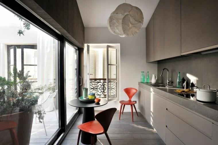 cocina lineal moderna