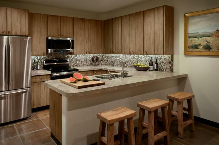 cocinas rusticas diseños muebles encantadores banquetas