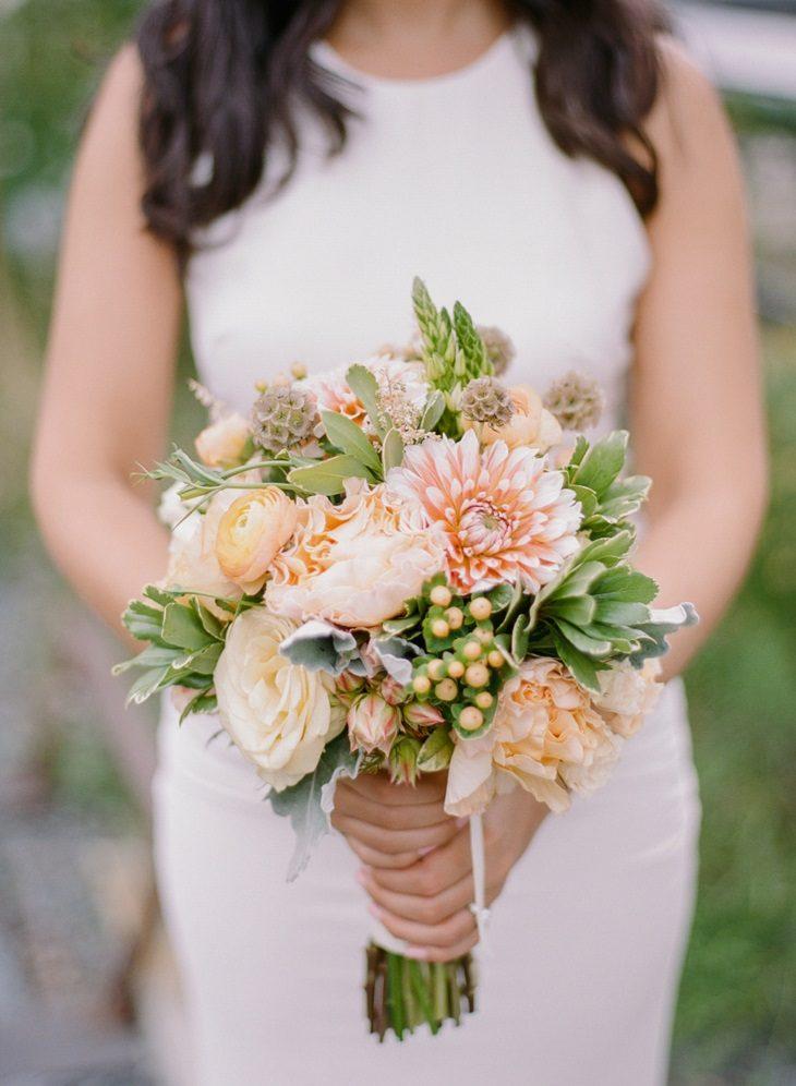 color melocoton flores bellas ramo moderno ideas