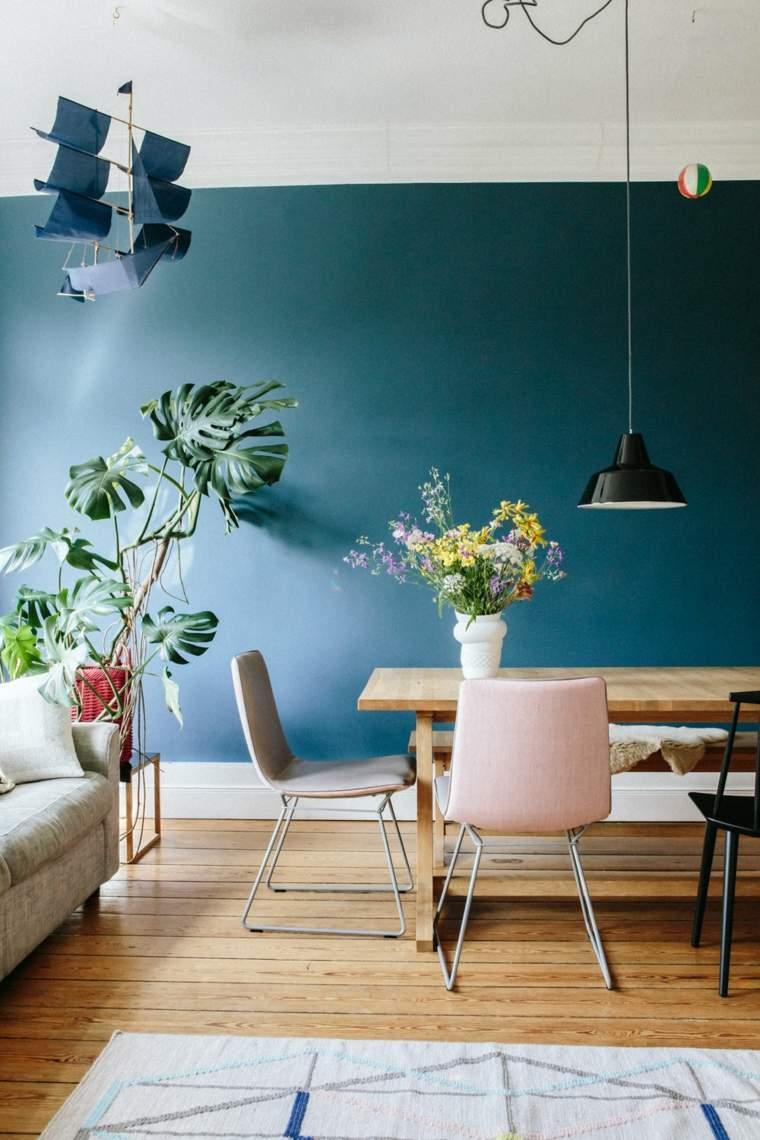 combinacion plantas flores comedores tonalidades