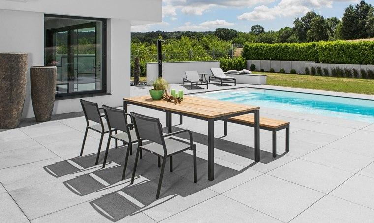 comedor aire libre muebles estilo moderno ideas