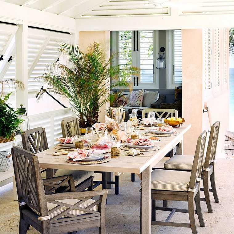 comedor patio estilo original diseno muebles ideas