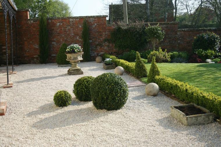 como hacer un jardín con piedras-cesped-grava