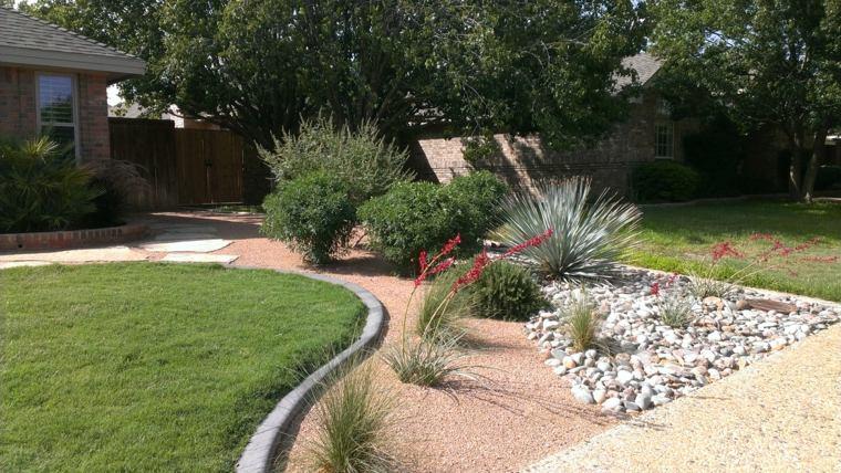 como hacer  jardin  piedras rocas  plantas