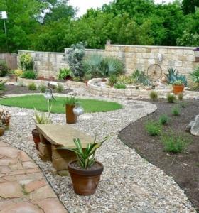 Puente en el jard n cincuenta y nueve ideas para for Como hacer un jardin con piedras