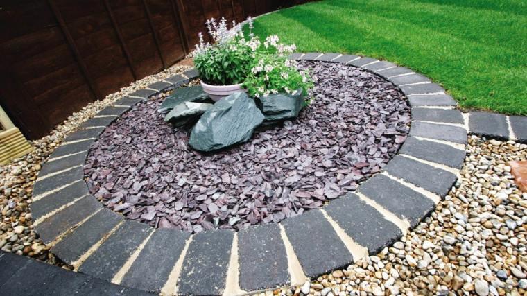 como hacer un jardín con piedras-detalle-bello