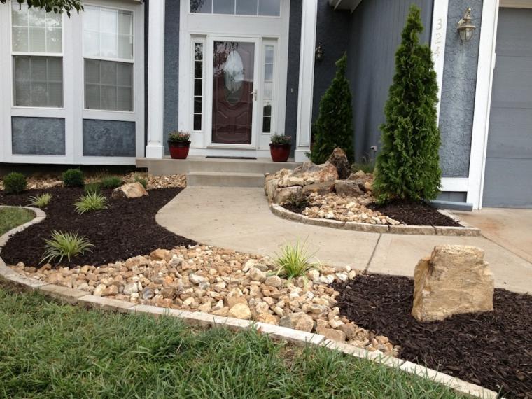 Como hacer un jard n con piedras rocas y plantas for Piedras de jardin decorativas