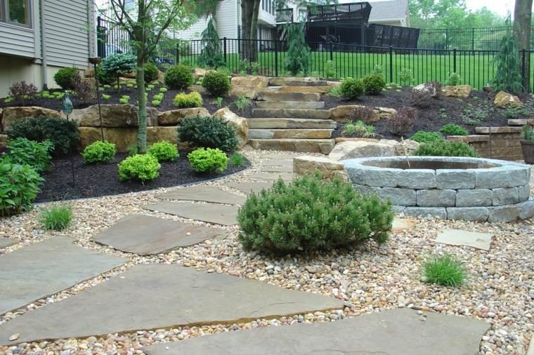 como hacer un jardín con piedras-forma-estilo