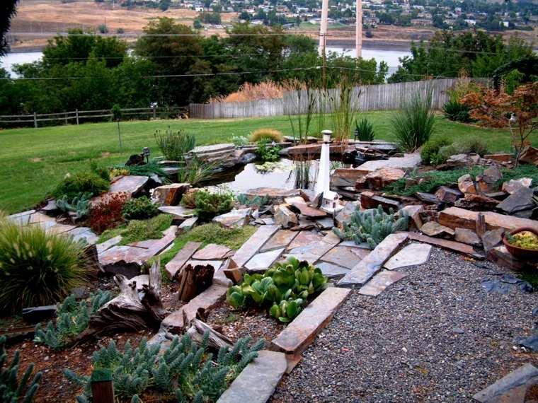 Como hacer un jard n con piedras rocas y plantas - Como construir un jardin ...