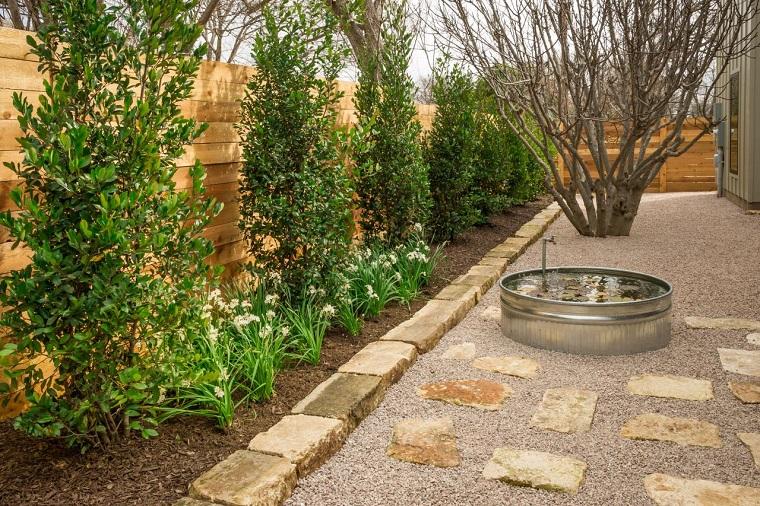 como hacer un jardín con piedras-ideas-modernas