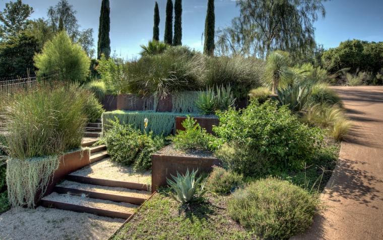 como hacer un jardín con piedras terrazas-diseno-jardines