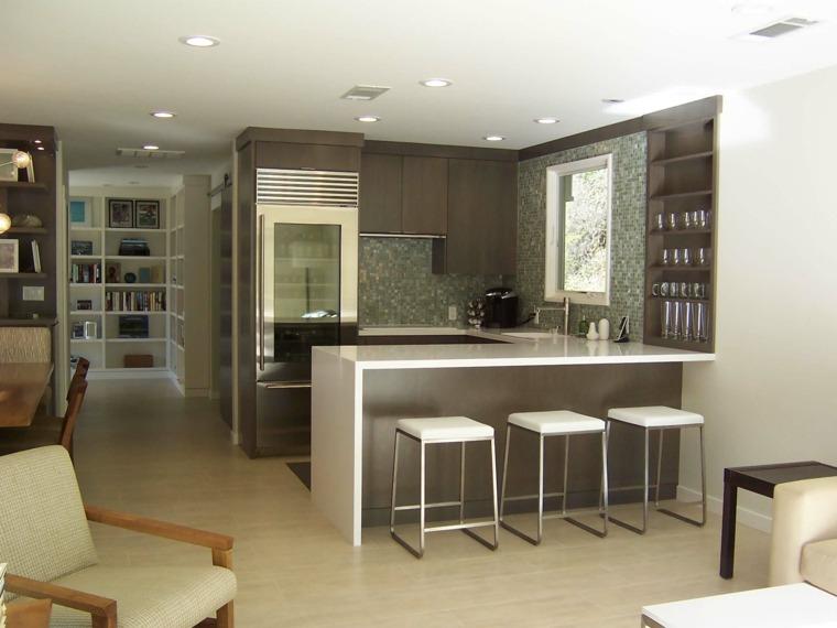 concepto abierto salas grises muebles paredes