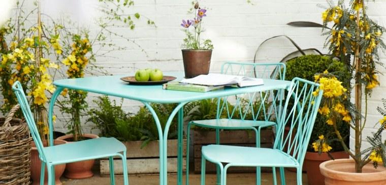 muebles color aguamarina