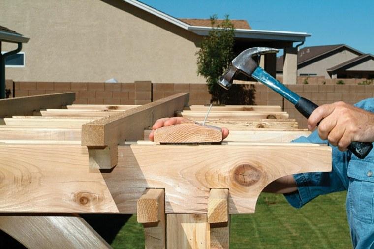 cubiertas pergolas sencillas creativas patios