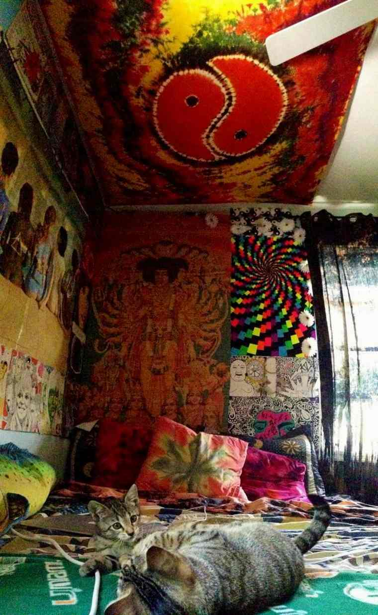 dormitorio hippie psicodélico