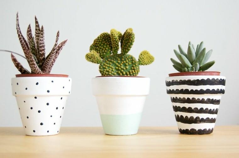 decoracion con cactus casa