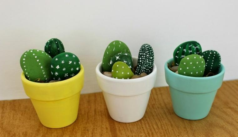 decoracion con cactus moderna casa
