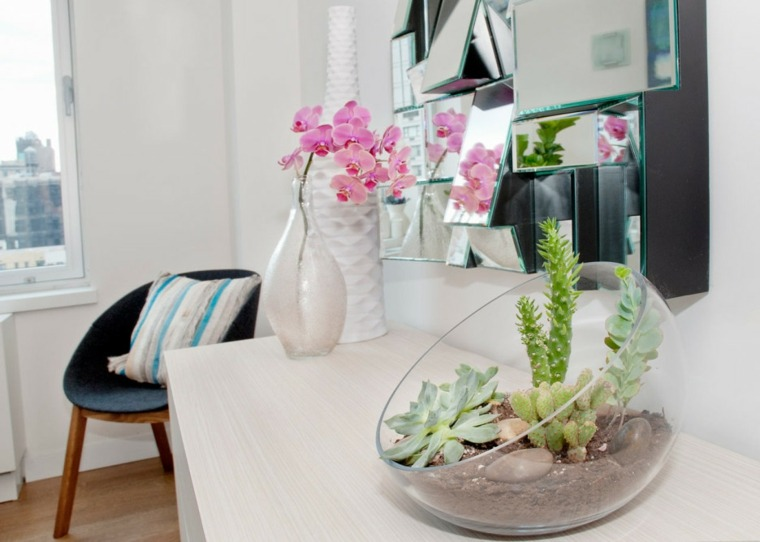 decoracion con cactus moderna