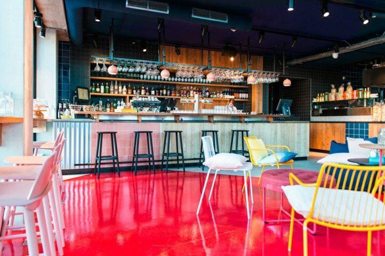 decoracion de interiores ideas bar restaurante suelos