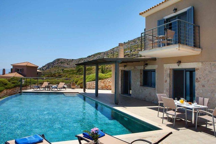 decoración de jardines con piscina estilo simple ideas
