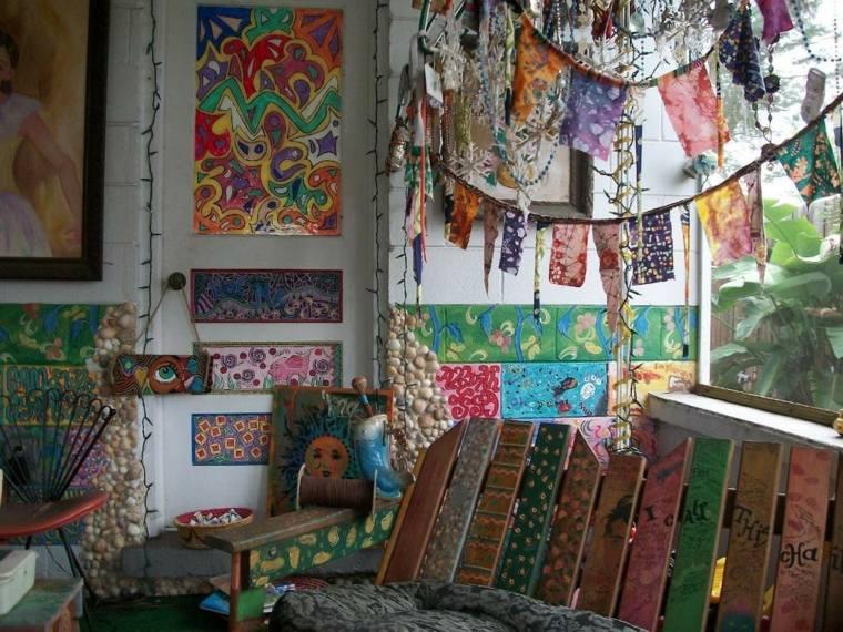 Decoracion hippie aires desenfadados y llenos de color - Decoracion hippie habitacion ...