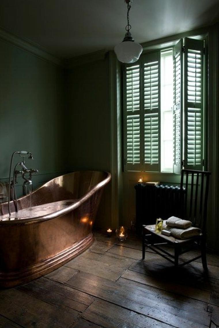 bañera cobre