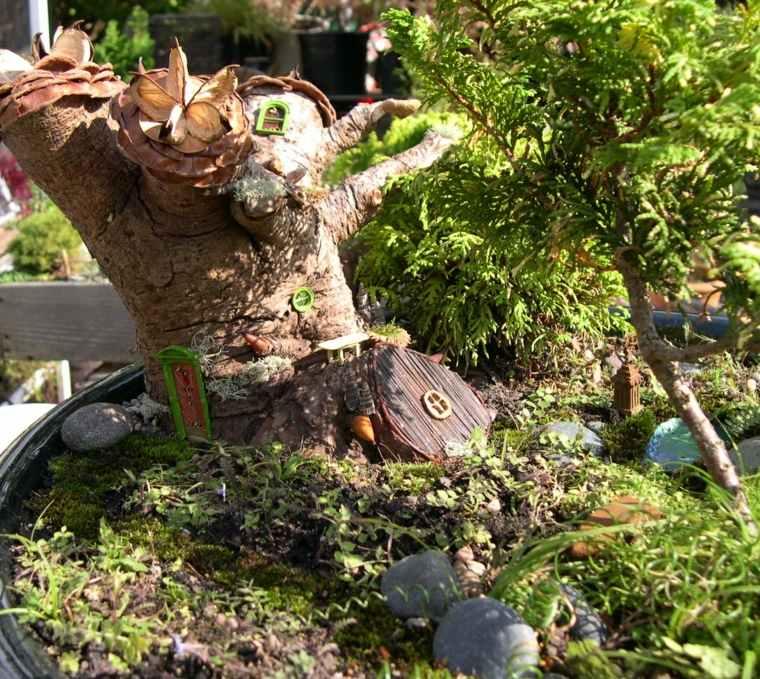 mini jardines árboles