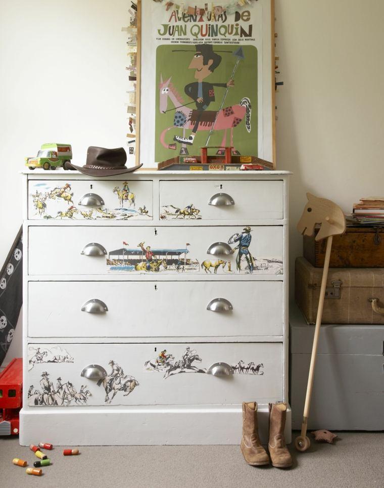Papel pintado para muebles para decorar los interiores - Decorar muebles con tela ...