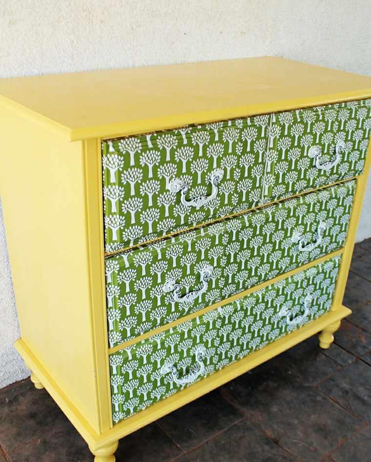Papel pintado para muebles para decorar los interiores for Decorar con papel pintado