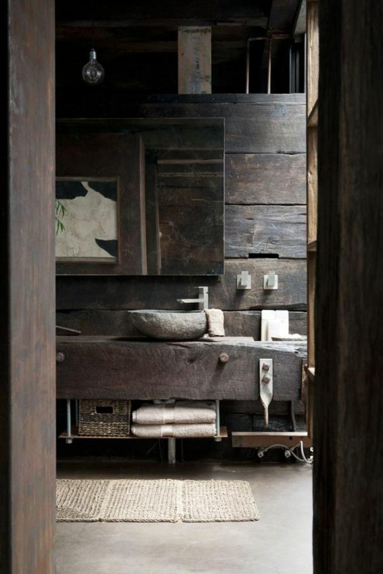 cuarto baño rústico