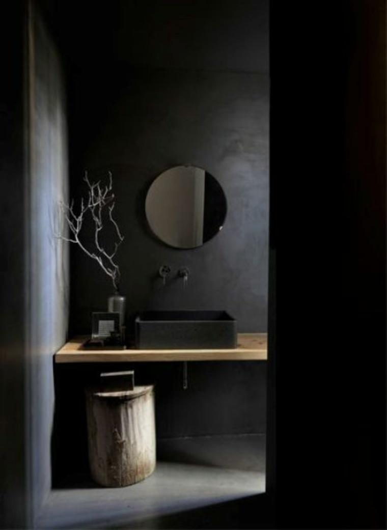 Decorar baños en tonos oscuros - atrévete a usar los colores