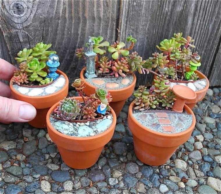 mini jardines macetas