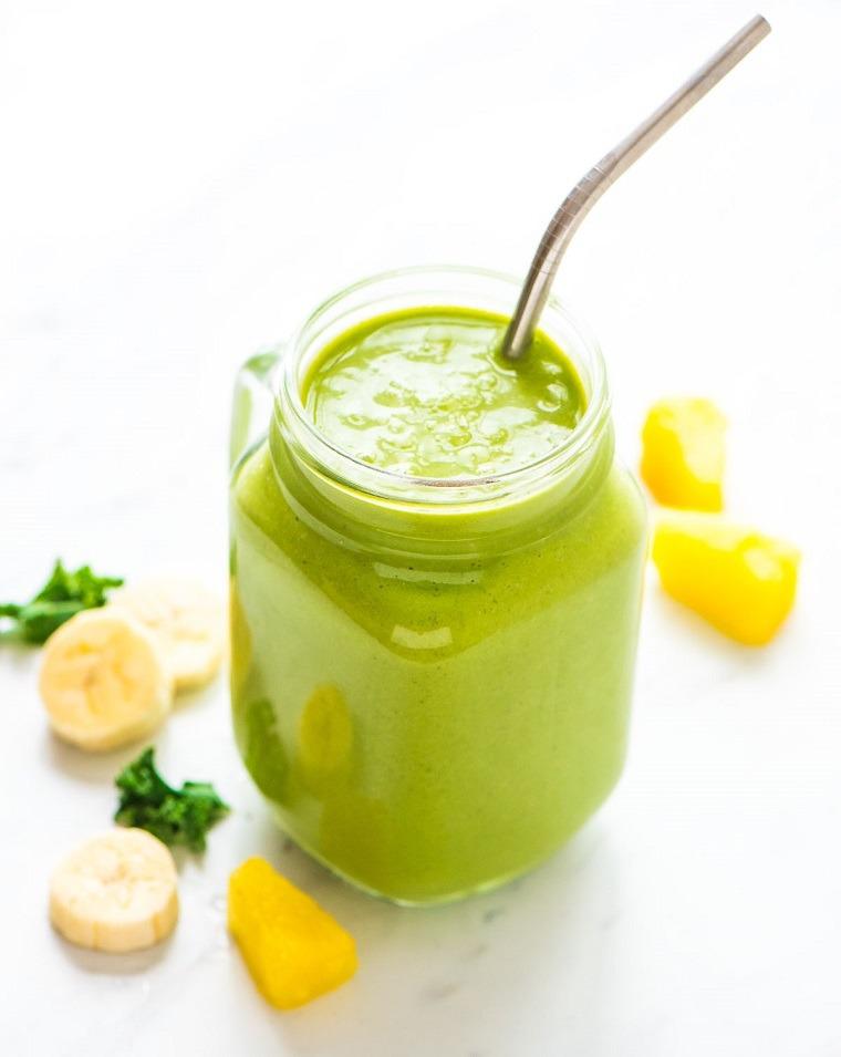 dieta detox smoothies pina platano ideas