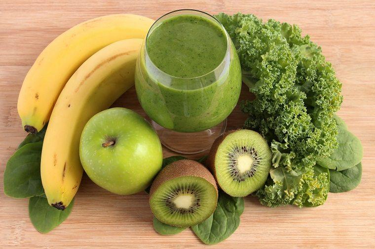 dieta detox smoothie col rizada verde platano ideas