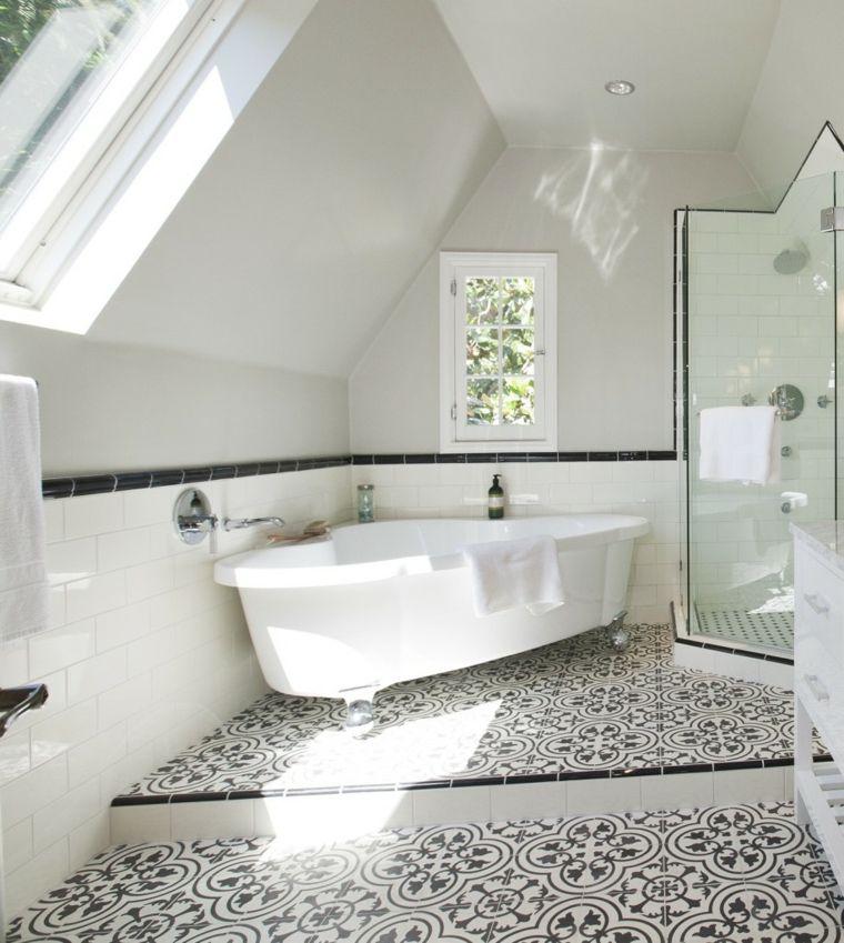 diseño de baños bañeras atico provechos materiales