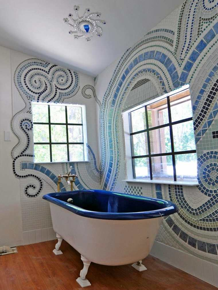 diseño de baños bañeras impresionantes acabados interiores verdes