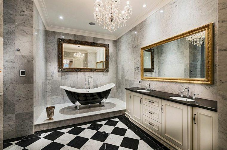 diseño de baños bañeras negro salones muestras