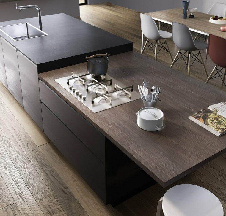 diseñar cocinas detalles negros Del Tongo diseno Egidio Panzera ideas