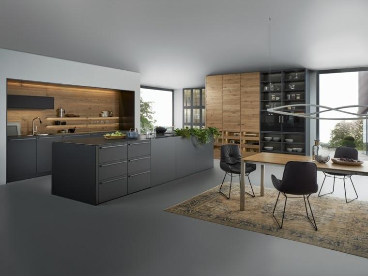 Dise ar cocinas con detalles y muebles de color negro for Muebles de cocina kuchen