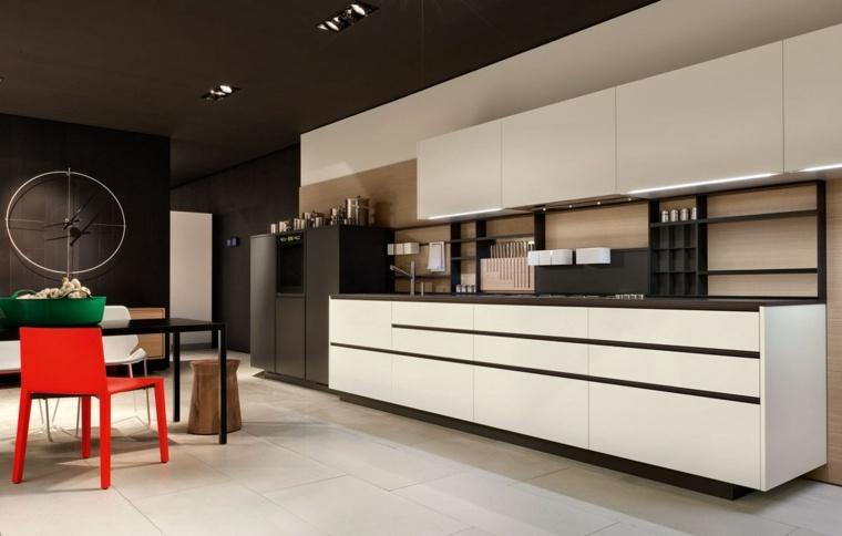disenar cocinas detalles negros blanco muebles ideas