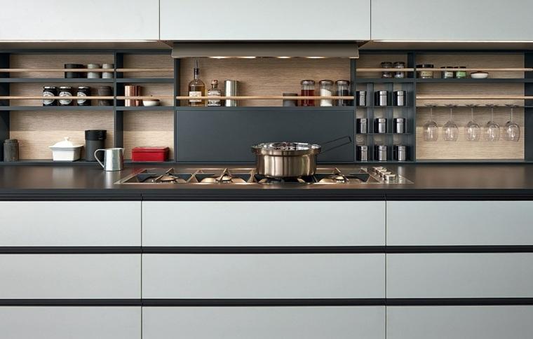 disenar cocinas detalles negros varenna poliform cocina madera ideas