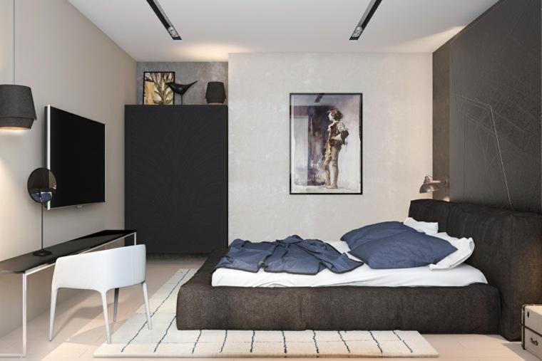 diseño de interior dormitorio moderno