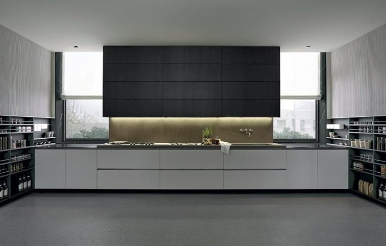 diseno elegante Varenna Poliform cocina blanco negro ideas